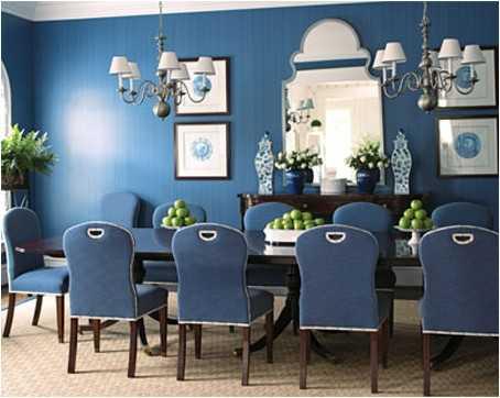 comedor azul ideas de decoración