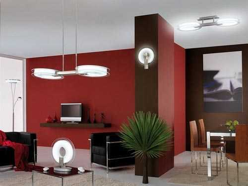 Ideas de colores para interiores - Mueble salon rojo ...
