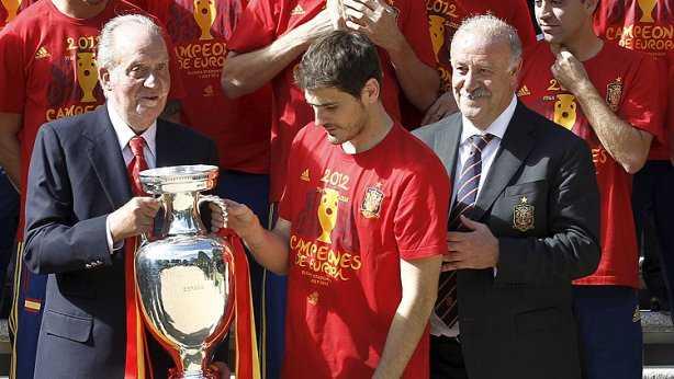 Rey Juan Carlos y la Selección española