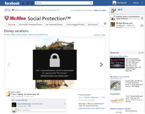 Mc Afee Social Protection fotos Facebook