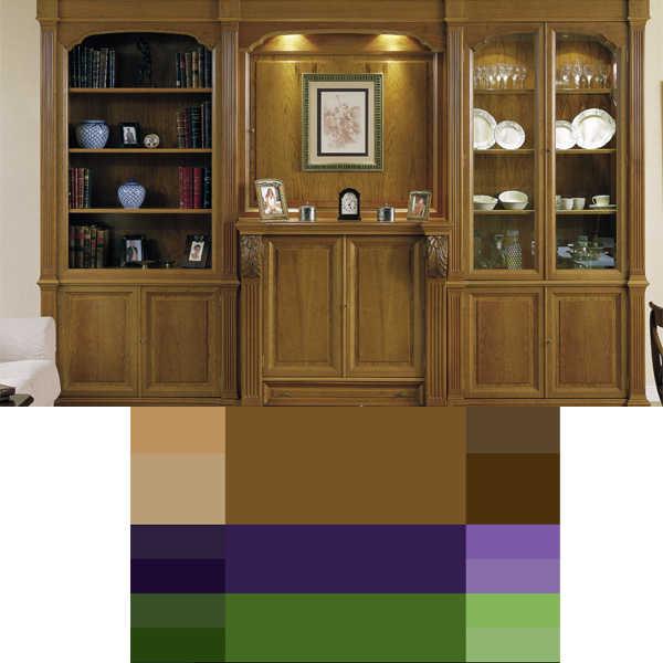 combinación de colores para interiores triada de colores