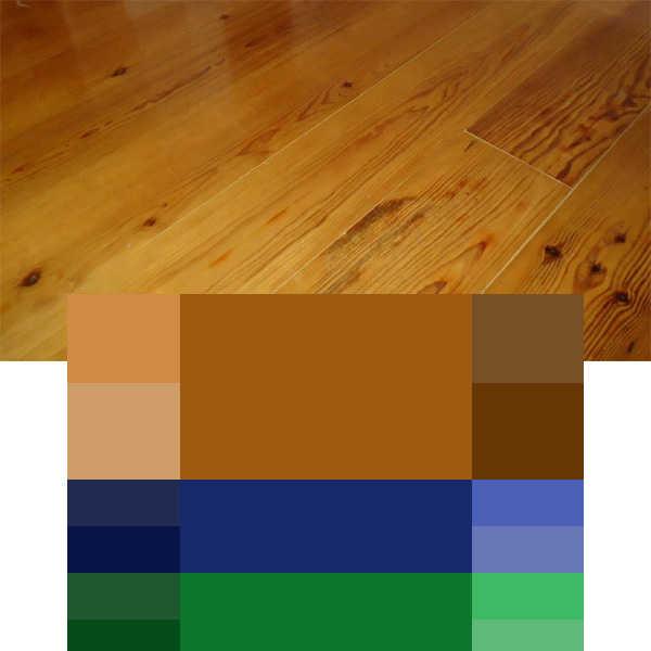 combinación colores para interiores triada