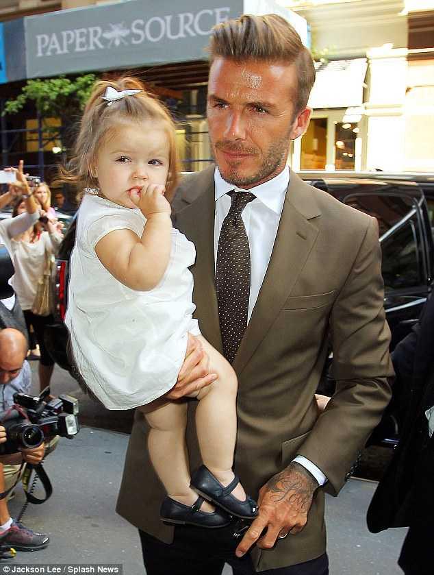 David Beckham y su hija Harper Seven