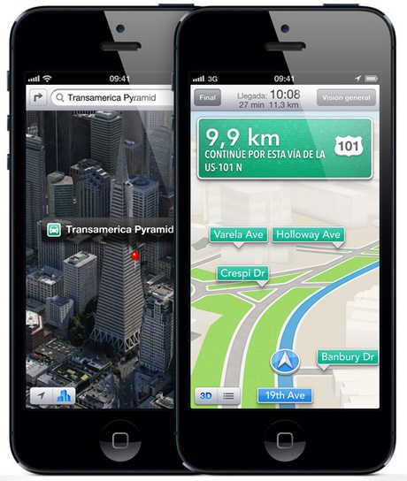 aplicación Mapas de iPhone 5