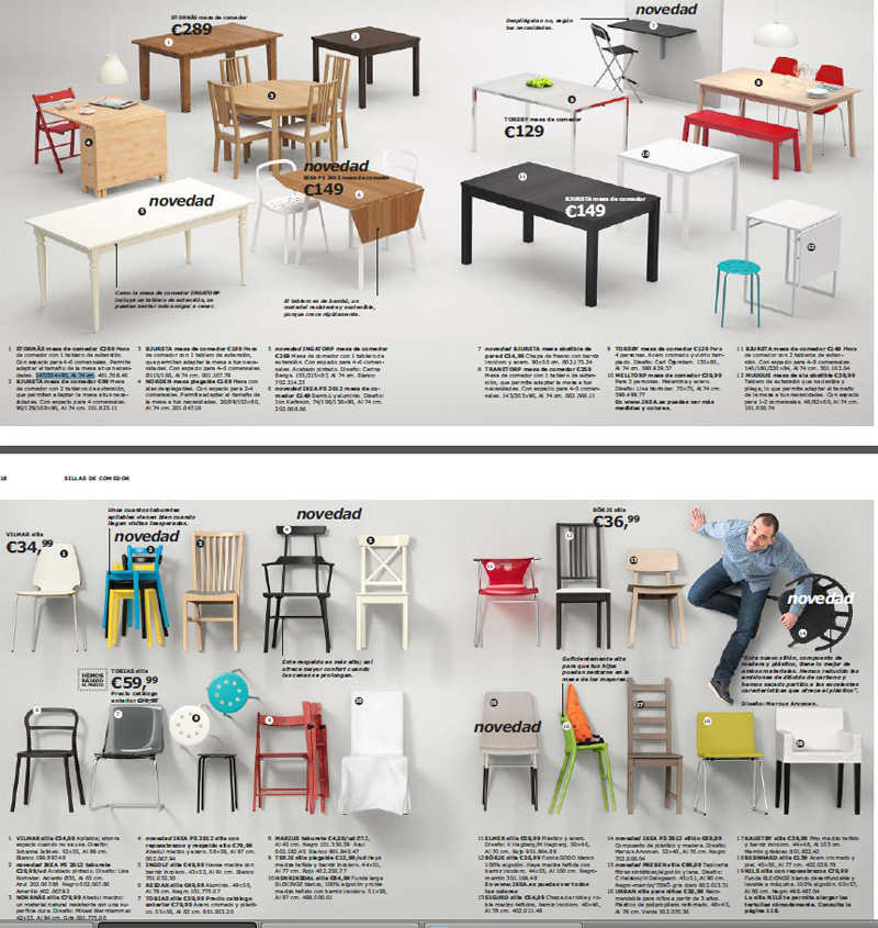 Mesas de comedor Ikea 2013