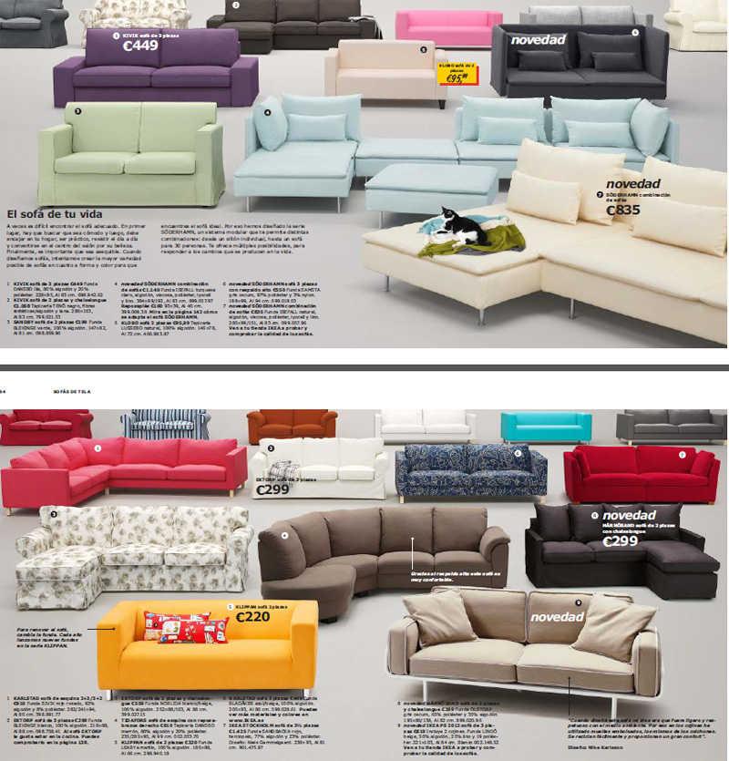 Catálogo Ikea 2013 sofás