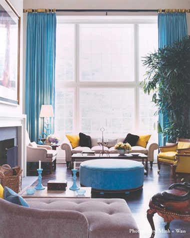 combinación de colores para interiores triada