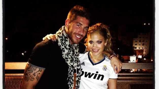 Sergio Ramos y Jennifer Lopez