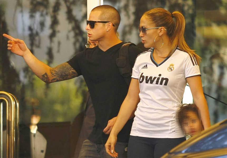 Jennifer Lopez y Casper Smart en Madrid