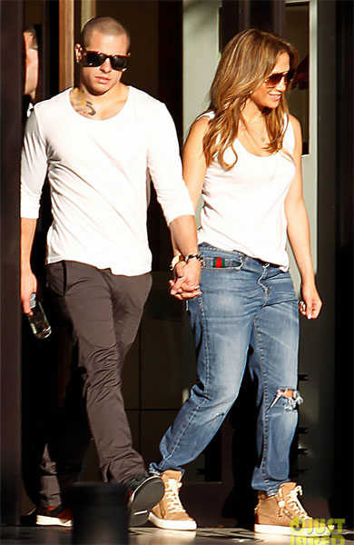 Jennifer Lopez y Casper Smart en Madrid