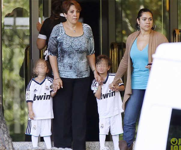 Jennifer Lopez y sus hijos en Madrid