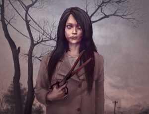 Mujer cara cortada
