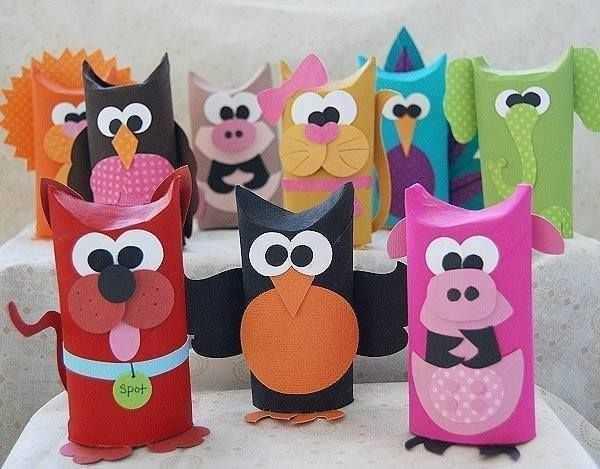 animales con rollos DIY
