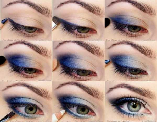 blue-eye-shadow-makeup-tutorial-with-amazing-design-and-makeup-for-navy-blue-dress