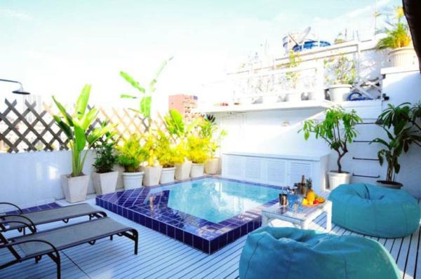 Decoraci n de terrazas ticos for Piscinas y terrazas ideales