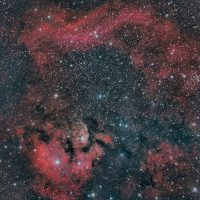 NGC7822 emission nebula in constellation Cepheus