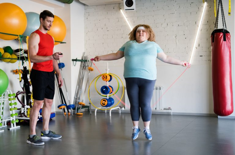 Weight loss Training in Gym