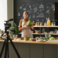 Food blogger in the kitchen