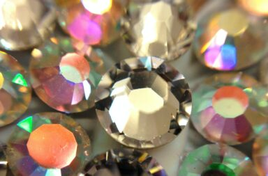 Macro swarovski crystals. Aurora borealis sparkle. Jewelry, jewels