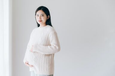 Asian pregnant women portrait