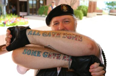 Green Beret Army Veteran Shows His Tatoos